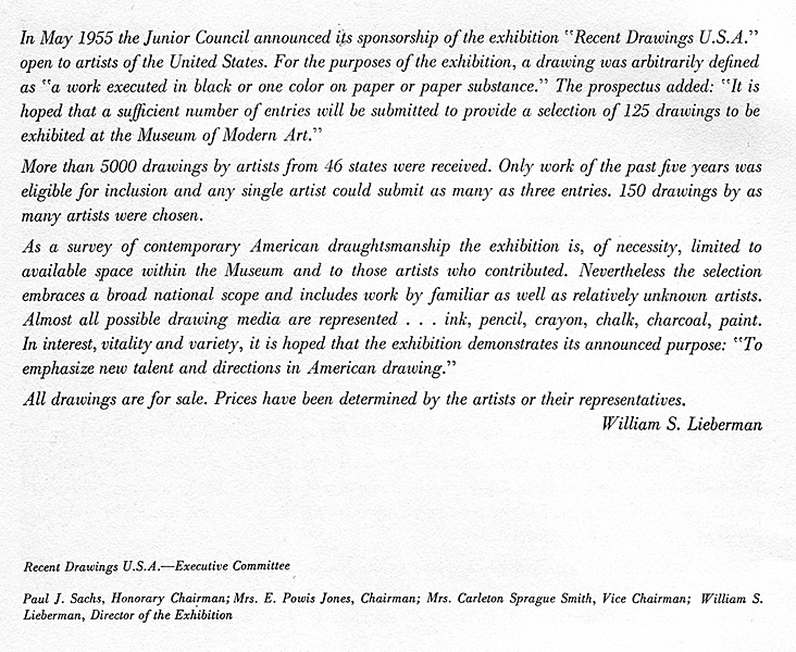 Preface in catalogue of Andy Warhol's first exhibition of an artwork in a museum