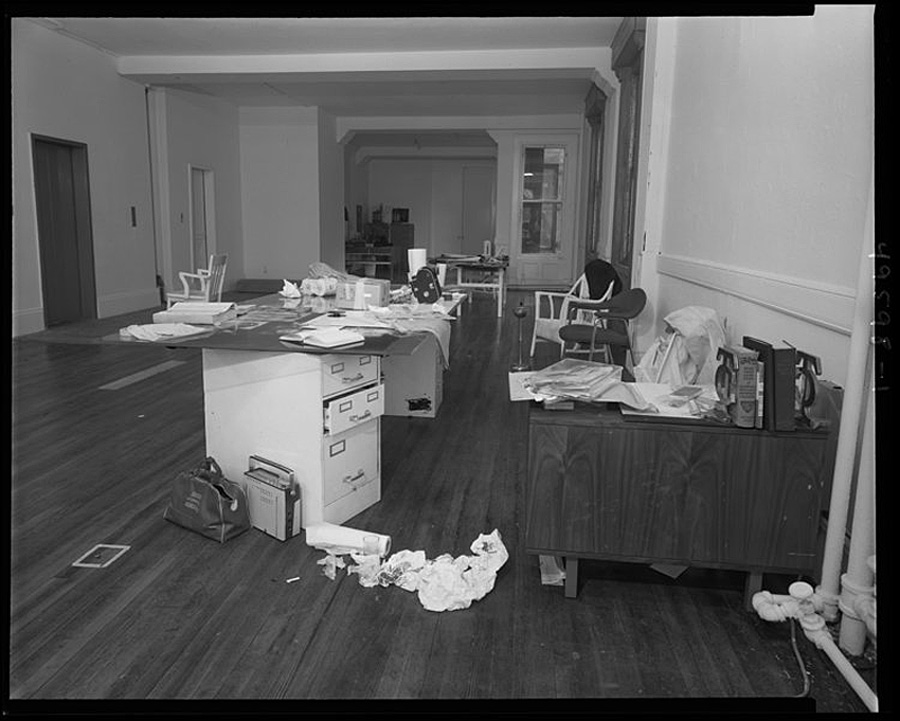 Andy Warhol's office after Valerie Solanas shot him
