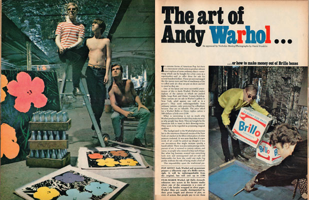 Andy Warhol in the Sunday Telegraph