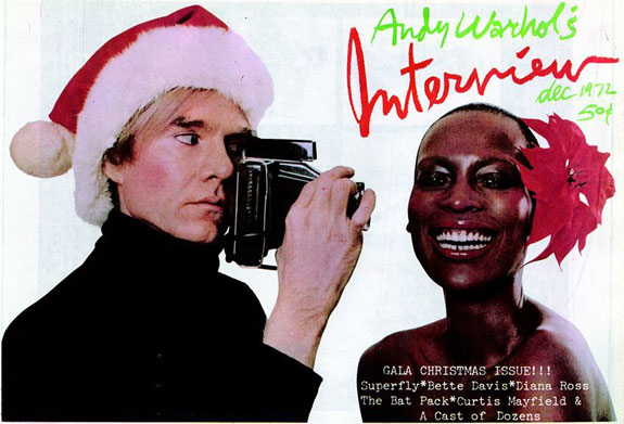 Andy Warhol interviews Naomi Sims - cover of Interview magazine