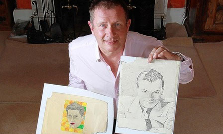 Andy Fields, Andy Warhol sketch and Gertrude Stein sketch