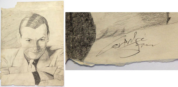 Alleged drawing of hopalong cassidy by Gertrude Stein
