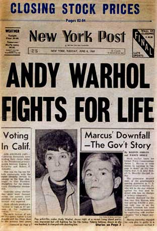 Andy Warhol in New York Post