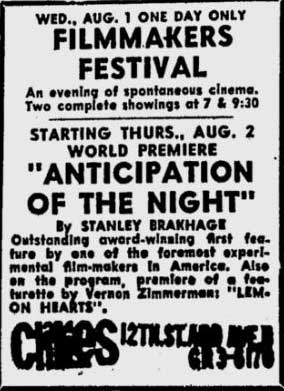Anticipation of the Night world premiere ad