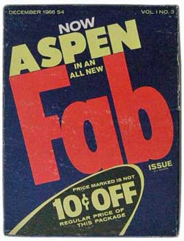 Cover of Andy Warhol issue of Aspen