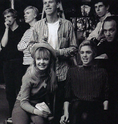Bibbe Hansen, Edie Sedgwick and Factory crowd