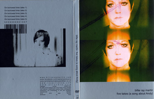 Cover of Billie Ray Martin DVD - inspired by Andy Warhol