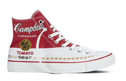 Converse All Stars with Andy Warhol print of a Campbell's Soup Can