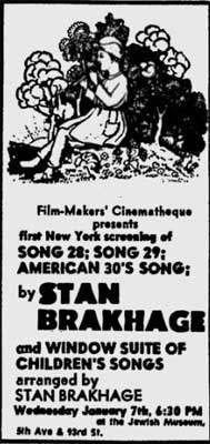 Stan Brakhage at the Film-Makers' Cinematheque
