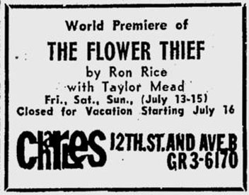 Flower Thief premiere at the Charles Cinema