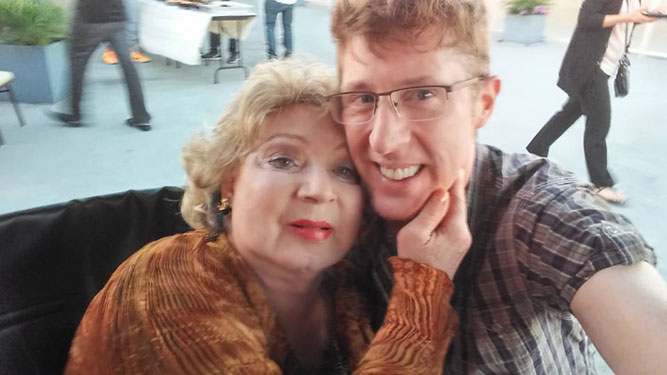 Holly Woodlawn and Brian Hamilton on Holly's 69th birthday