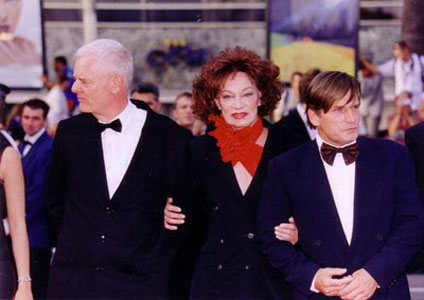 Paul Morrissey, Holly Woodlawn, Joe Dallesandro in Cannes