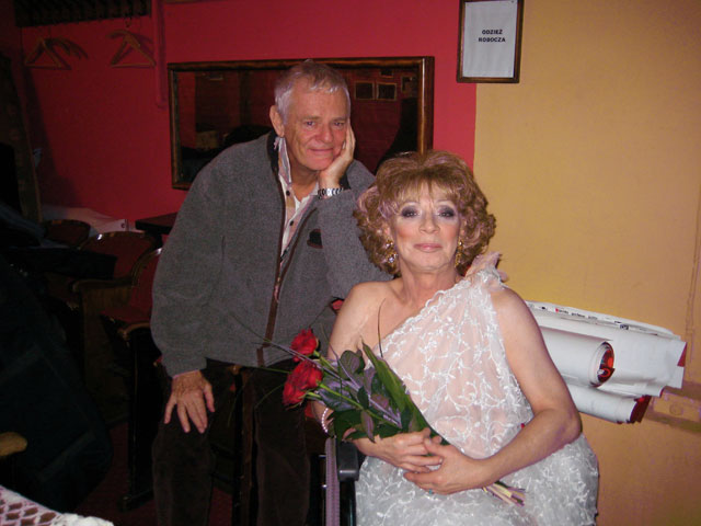 Holly Woodlawn and Paul Morrissey in Krakow