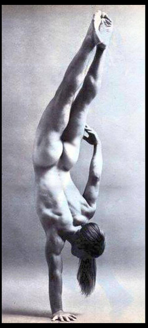 Joe Dallesandro does a handstand in 1968