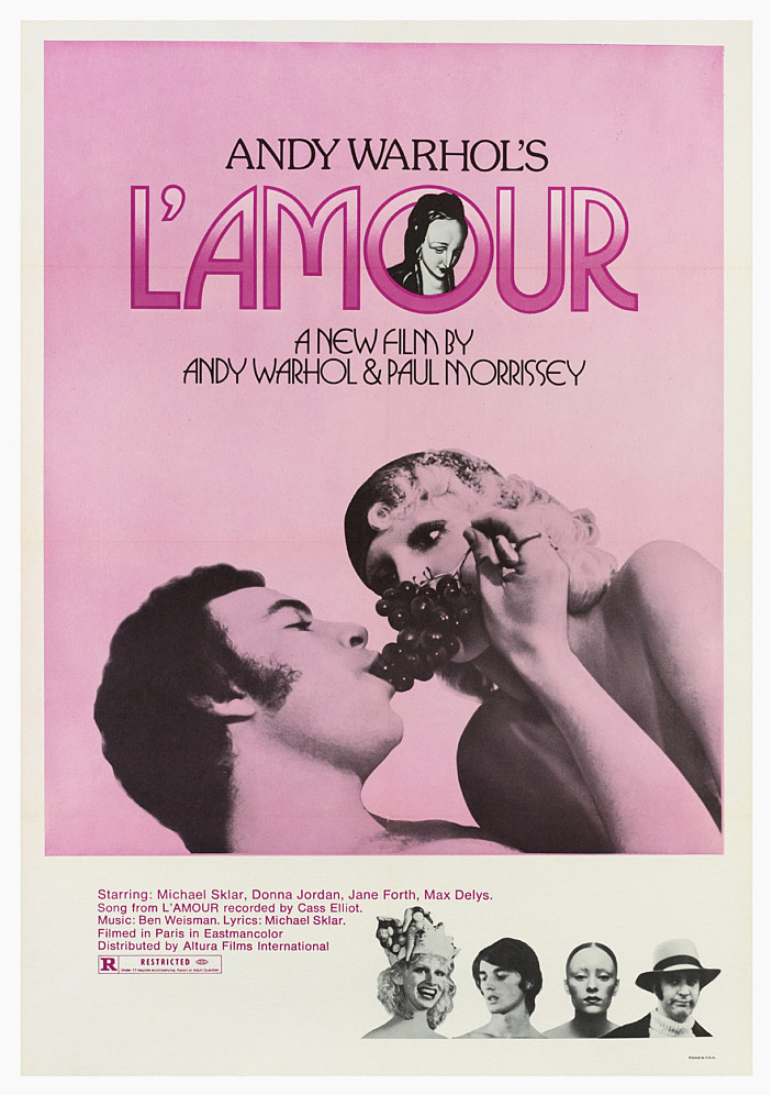 Andy Warhol's film L'Amour poster