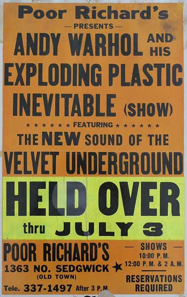 Velvet Underground held over at Poor Richard's