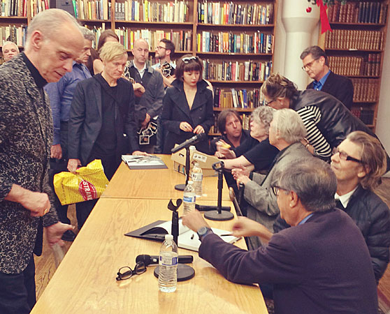 Thomas Kiedrowski and others at the Brigid Berlin book signing