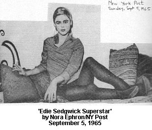 Edie Sedgwick in N.Y. Post