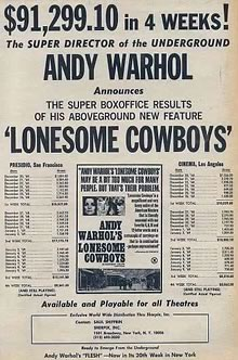 Lonesome Cowboys ad