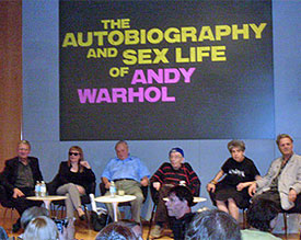 autobiography and sex life of Andy Warhol panel